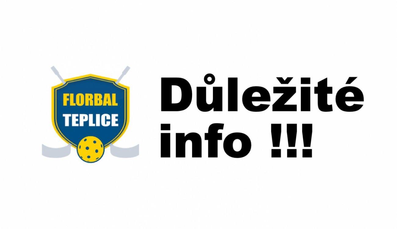 Florbal Teplice ruší tréninky pro všechny kategorie!